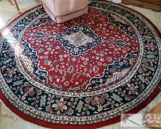 """Large Circle Woven Rug approx 100"""" in diameter"""