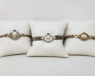 3 Antique Watches Brands Include Wittnauer, Waltham, and Gruen.