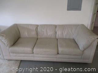 Leather Factory Sofa & Love Seat