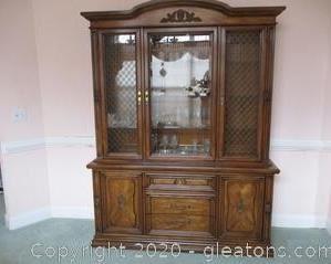White Fine Furniture China Cabinet