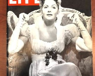 1937 Greta Garbo Life Magazine