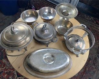 3. Group of Silver Plate Items