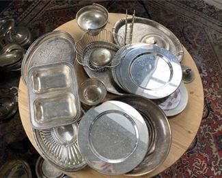 8. Huge Lot of Silver Plate Items