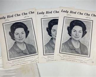 2. Lady Bird Johnson Set of Sheet Music