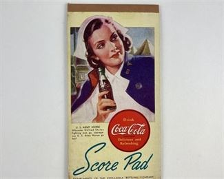 9. Coca Cola WWII Era Bridge Scorepad