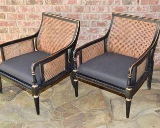 6. Pair Baker Regency style Armchairs