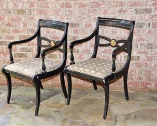 8. Pair Regency Style Armchairs