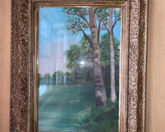 Oil Painting under glass $50