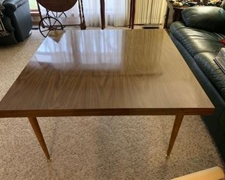 Mid Century Large Square Coffee Table (Legs can be angled out also)  $150