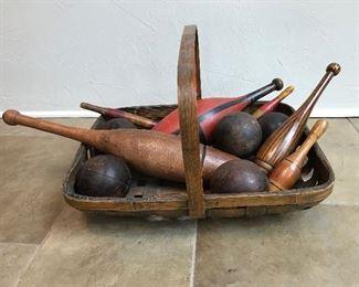 Antique Lawn Bowling