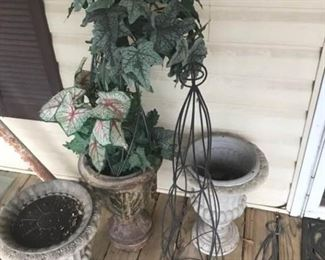 Indoor Outdoor Planters Trellis Set