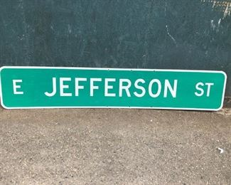 Large East Jefferson St Reflective Street Sign