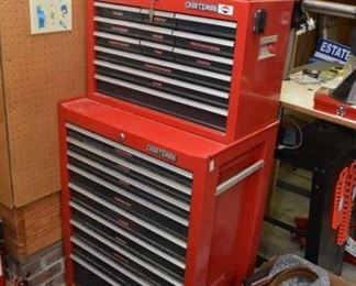 Craftsman red multi-drawer tool chest