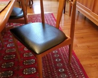 7 mid century modern dining set chairs. By Uldum Mobelfabrik
