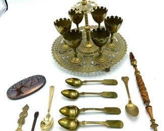 Demitasse Set with Spoons, Page Turner, Enameled Box