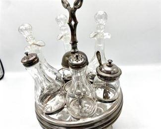 Silverplate Cruet Carousel