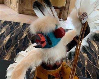 Navajo Hopi Kachina Doll Eagle Dancer Sammie Walker 200421x9x9HxWxDSC101