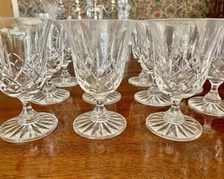 "#481C - Cut crystal wine glasses (5"" t) - 10 for $120.00"