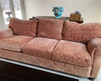 "Couch from Richard Honquest of Barrington - Hancock & Moore  8' long X 32"" deep. $640"