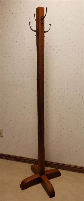 Solid Wood Coat/Hat Rack ~ 19 in. x 19 in. x 72 in. tall