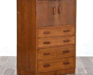 Mid Century Danish Modern Wardrobe Dresser