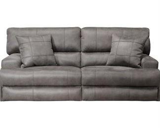 Catnapper Monaco Manual Reclining Sofa In Charcoal