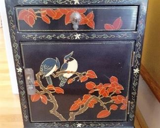 Black lacquer Oriental cabinet
