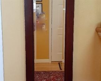 Oriental style wall mirror