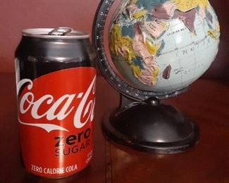 Small globe - coke can for scale
