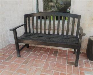 Black trex outdoor settee