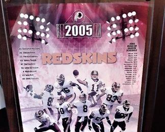 REDSKINS 2005 Plaque