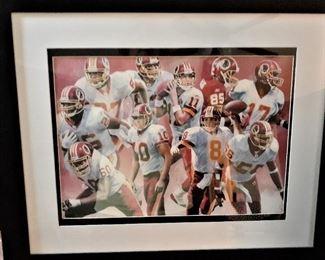 REDSKINS framed picture