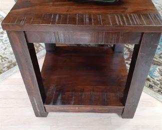 Dark wooden cube table