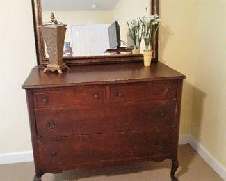 Renaissance style dresser and mirror