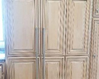 Sub-Zero 632 refrigerator with custom cabinetry front