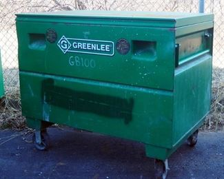 "Greenlee Metal Flat Top Storage Box 3048/23362, 30"" H x 48"" L x 30"" W"