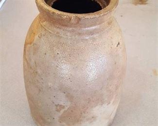 stoneware jar, no lid