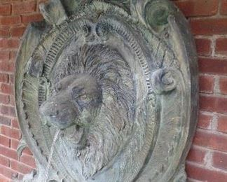 Bronze 6' high lion water fountain,  $1,600