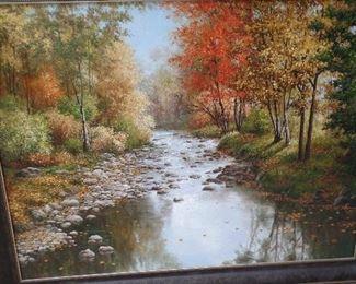 "4' x 5' original oil painting ""J Parks""  North Georgia mountains , $1,500"