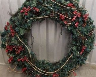 Very Large Christmas Wreath with Lights https://ctbids.com/#!/description/share/365941