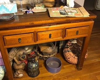 Cute table with 3 drawers.  $65