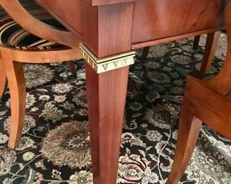 Baker Dining Table 3 Leafs, Pads, 8 Chairs...$1,500