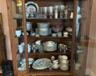 """#1Antique china/display cabinet 46""""x17""""x65"""" $150.00  SOLD"""