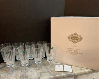 Shannon Crystal Glasses and Serving Set