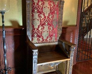 Antique Bishop Chair.