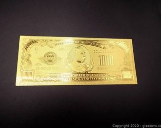 24k 1928 Series Federal Reserve Gold Mint