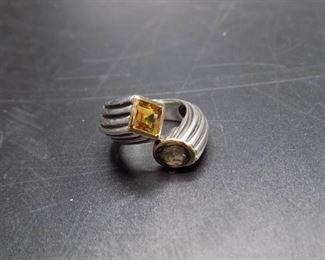 14K Sterling Gemstone Ring