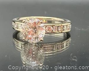 Large Diamond Engagement Ring