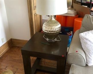 Side table $100, Mercury Glass Lamp $40 there are 2 of each