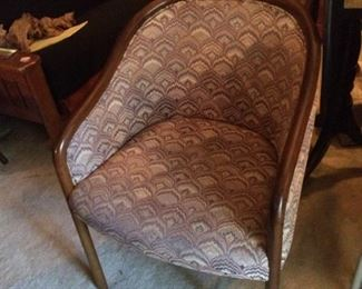 3 upholstered chairs with wood trim; $75 each.